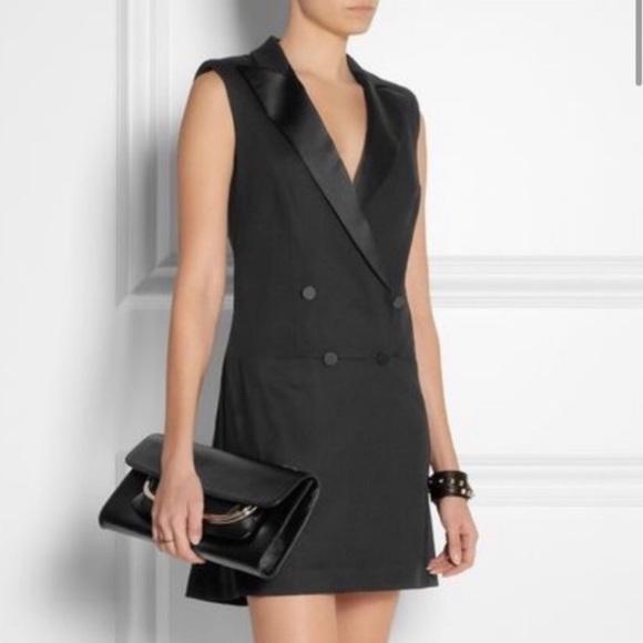 Alexander McQueen Dresses & Skirts - McQ Alexander McQueen tuxedo-style Cady dress. Sm